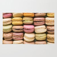 macaron Area & Throw Rugs featuring Macarons I by SouvenirPhotography