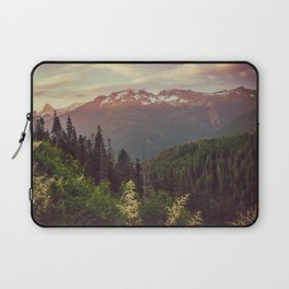 Mountain Sunset Bliss - Nature Photography Laptop Sleeve