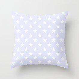 STARS (WHITE & LAVENDER) Throw Pillow