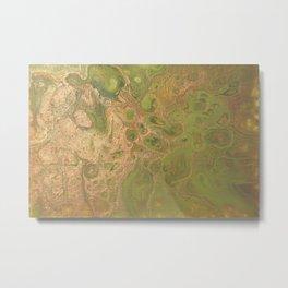 fluid golden green Metal Print