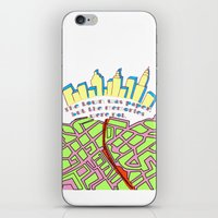 paper towns iPhone & iPod Skins featuring Paper Towns by green.lime
