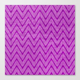 Vivid Purple Mauve Chevron Pattern Canvas Print