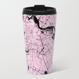 Amsterdam Pink on Black Street Map Travel Mug