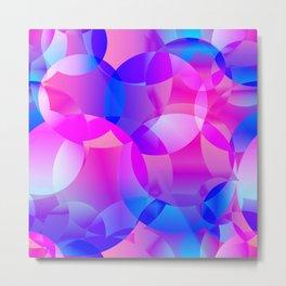 Violet and blue soap bubbles. Metal Print