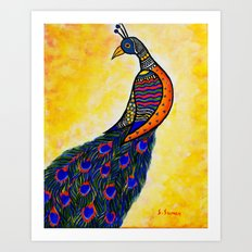 Colours in my wing Art Print