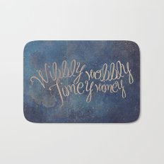 Wibbly wobbly (Doctor Who quote) Bath Mat