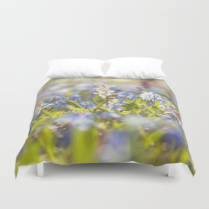 Spring flower meadow - Colorful flowers -floral Duvet Cover