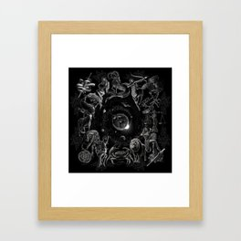 XXI. The World Tarot Card Illustration (Zodiacs) Framed Art Print