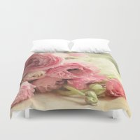 notebook Duvet Covers featuring the first bouquet by Sylvia Cook Photography