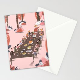 Fantastic tea party Mr Fox Stationery Cards