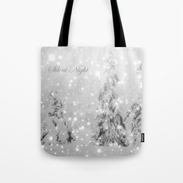 Silent Night - B & W Tote Bag