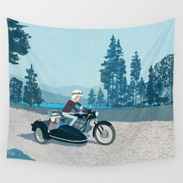 The Blue Lake Wall Tapestry