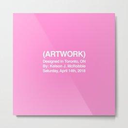 (ARTWORK) Pink Metal Print