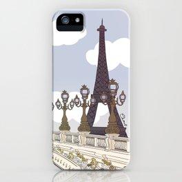 Paris, mon amour iPhone Case