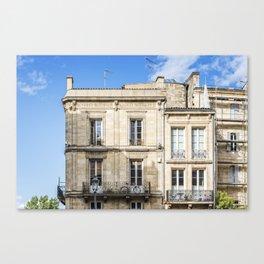 Old building in  Bordeaux Canvas Print