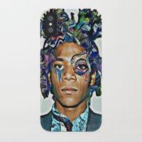 basquiat iPhone & iPod Cases featuring Basquiat by Katy Hirschfeld