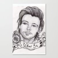 louis tomlinson Canvas Prints featuring louis tomlinson by stylin_art