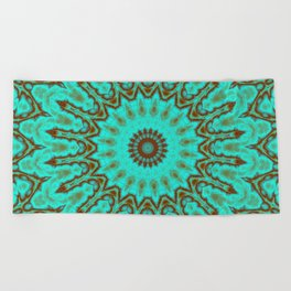 Kaleido in Oxidized Copper Beach Towel