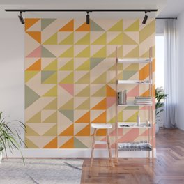 Mellow Triangles Wall Mural