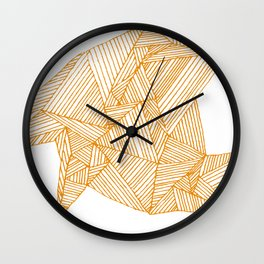 Lines on Napkin Wall Clock