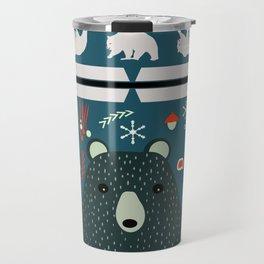 Bear Christmas decoration Travel Mug