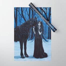 Midnight Travelers Gothic Fairy and Unicorn Wrapping Paper