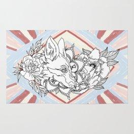 Floral Fox Rug