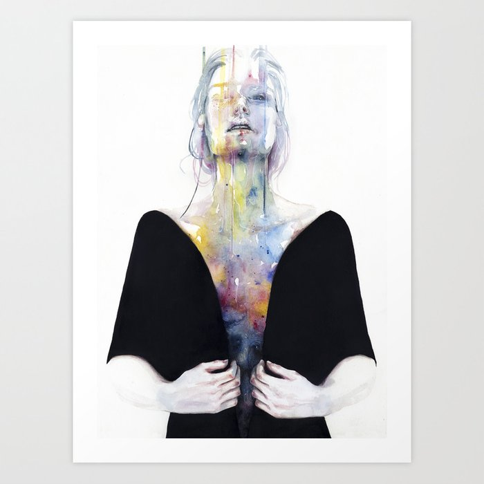 Discover the motif ANOTHER ONE (INSIDE THE SHELL) by Agnes Cecile as a print at TOPPOSTER