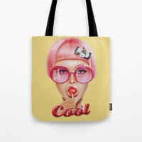 hot Tote Bags featuring Cool Redux by Giulio Rossi