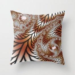 Tree Dance Fractal Throw Pillow