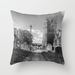 All Saints Church and Collegiate Buildings Throw Pillow
