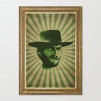 clint barton Canvas Prints featuring Clint by Durro