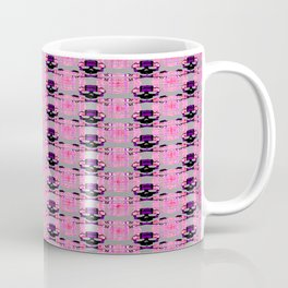 Raceway Plaid Skull and XBones: Pink, Grey, Purple Coffee Mug