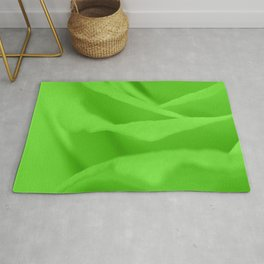 Lime Green Silk Effect Rug