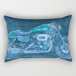 2016 Harley Sportster Roadster 1200 BLUE, motorcycle art for men Rectangular Pillow