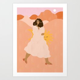 Don't look back in sadness Art Print