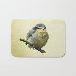 Young Bluetit Bird Art Bath Mat