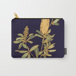 Banksia on Indigo Blue Botanical Illustration Carry-All Pouch