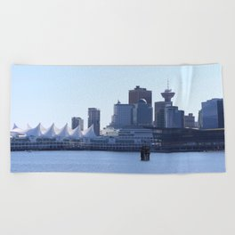 Downtown Vancouver Canada Beach Towel