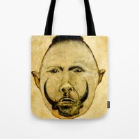 tribal Tote Bags featuring tribal  by Joe Ganech