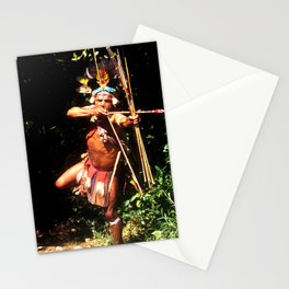 Papua New Guinea Villager With Handmade Arrow & Bow Stationery Cards