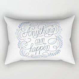 Anything can happen Blue Rectangular Pillow