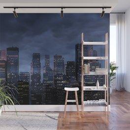 Night city panorama Wall Mural