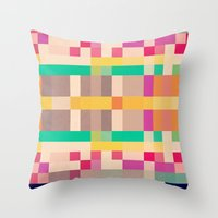 quilt Throw Pillows featuring quilt by spinL