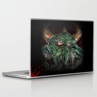 cthulhu Laptop & iPad Skins featuring Cthulhu by byron rempel