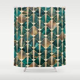 Art Deco Tiles - Ocean Shower Curtain