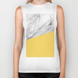 Marble and Primrose Yellow Color Biker Tank
