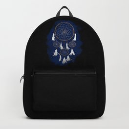Classic Dreamcatcher: Blue background Backpack