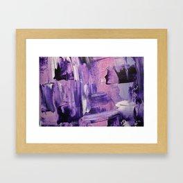 Purple Mess Framed Art Print