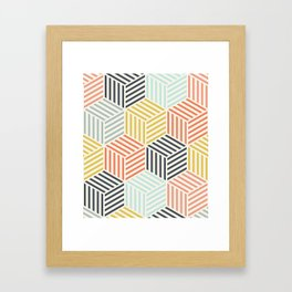 Colorful Geometric Pattern Framed Art Print